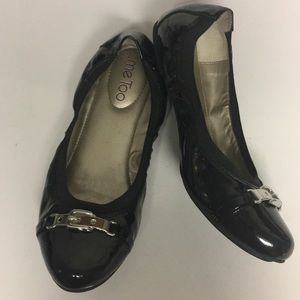 Me Too Kayley Patent Leather Buckle Flat Shoes